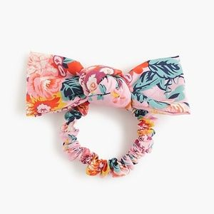 j. crew bow hair tie in liberty® floral
